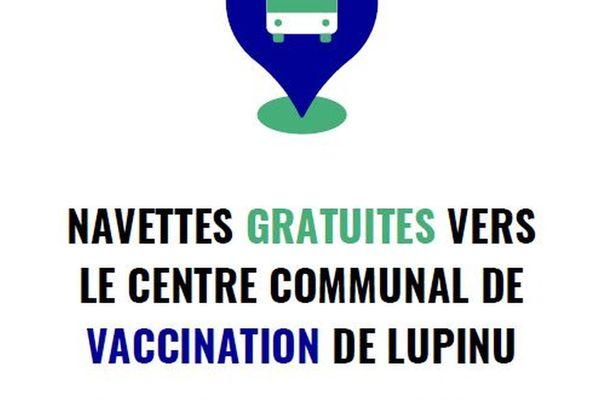 Des navettes se rendent quotidiennement jusqu'au centre vaccinal de Lupinu, à Bastia