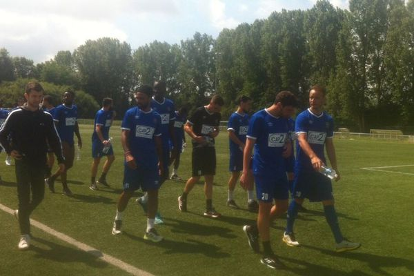 Les joueurs du FC Chambly se sont retrouvés sur la pelouse à l'occasion de leur rentrée, vendredi 20 juin.