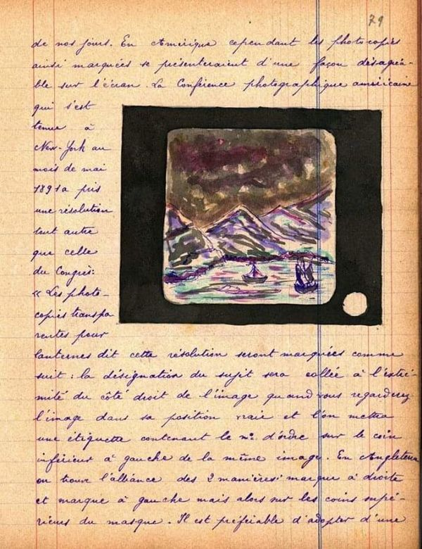 Pendant sa détention Georges Noël a noirci plusieurs carnets sur la photographie