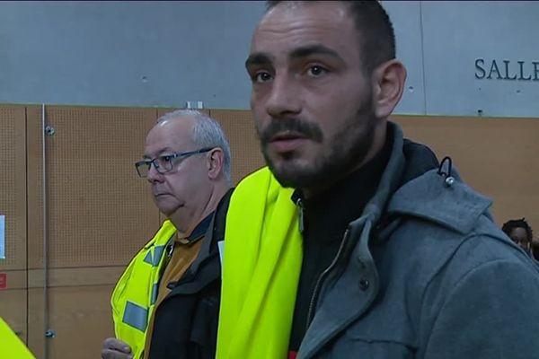 """Kevin, """"gilet jaune"""", a comparu devant le tribunal de grande instance de Toulouse pour blocage de la Socamil."""