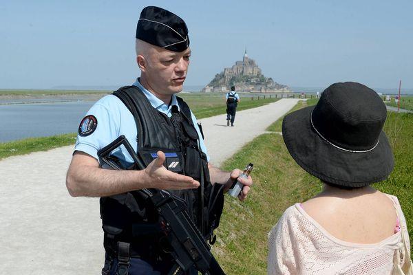 Dimanche 22 avril, évacuation du Mont Saint Michel