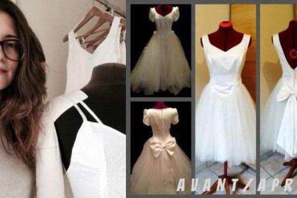 A Annecy, Aurélie Vuillet customise les robes