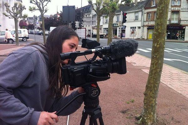 Lucie Versiel, stagiaire en BTS audio visuel