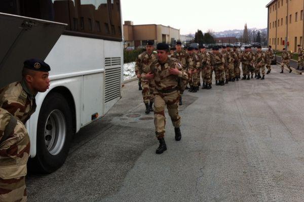 Départ des soldats du 126ème Ri de Brive pour le Mali, vendredi 18 janvier 2013