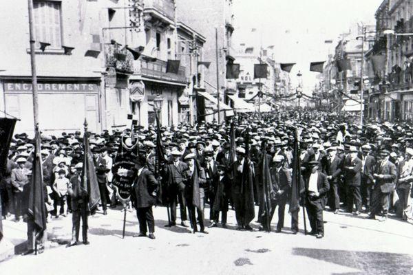 Manif du 1er mai 1930 à Saint-Nazaire