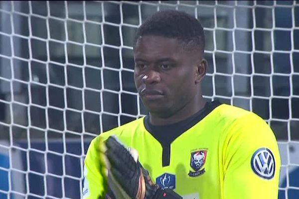 Brice Samba, gardien de but a été le héros caennais lors de la 8eme de finale contre Metz