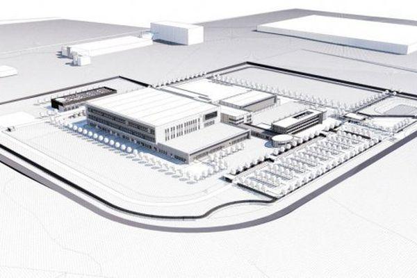 La future usine LFB dans la zone industrielle Actiparc de la Communauté urbaine d'Arras.