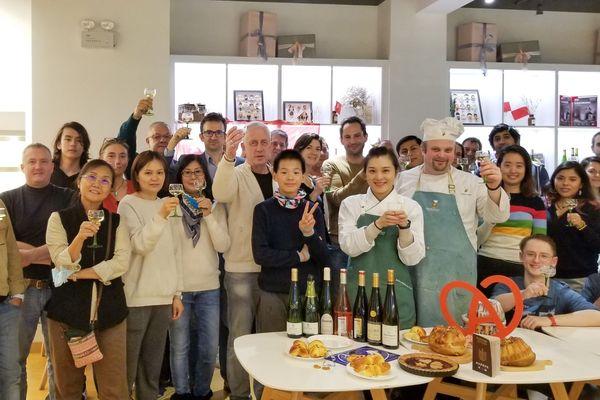 Les Alsaciens de Shanghai participant à la fête