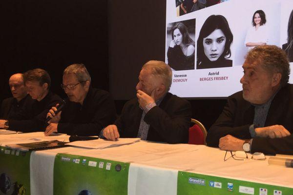 Conférence de presse du Festival International du film fantastique au cinéma du Casino, à Gérardmer (Vosges), mercredi 16 janvier 2019.