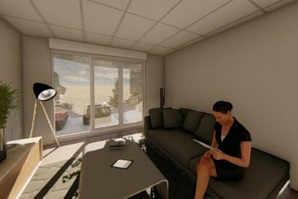 L'appartement connecté n'est visible que par images de synthèse ; son emplacement est tenu secret