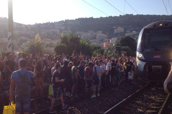 Les passagers sont excédés ce matin en gare de Riquier.
