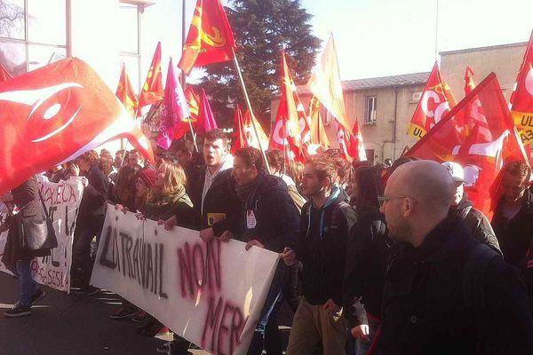 Les lycéens et étudiants de la région à nouveau mobilisés contre le projet de loi Travail