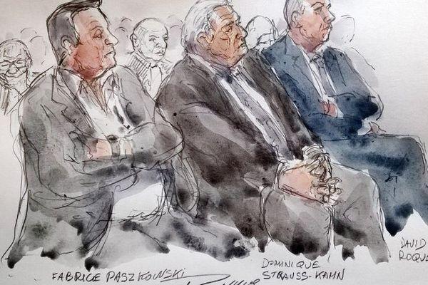 Croquis d'audience du procès Carlton -DSK.