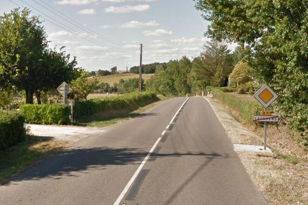 La victime est décédée sur la D7, qui travers la commune de Caussens, dans le Gers
