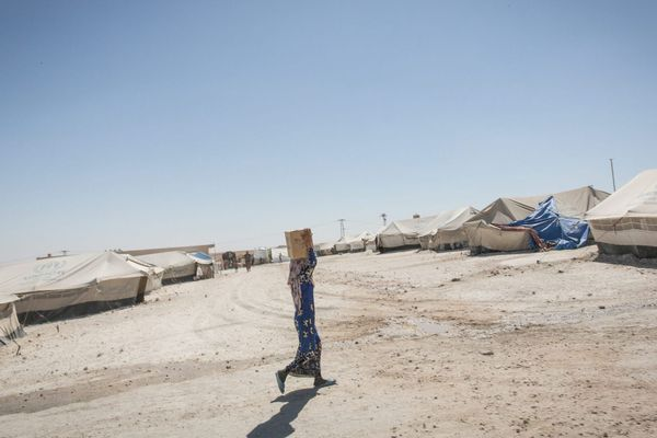 Syrie : le camp des déplacés de Ain Issa
