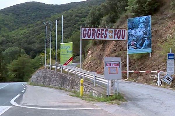 Arles-sur-Tech (Pyrénées-Orientales) - l'entrée des Gorges de la Fou - juillet 2019.