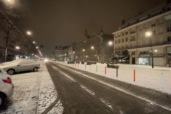 De la neige à Valenciennes.