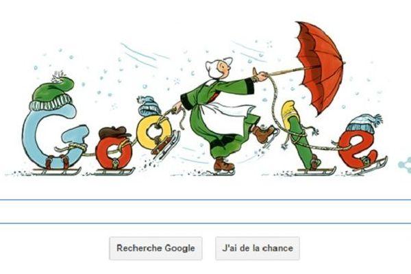 Bécassine à l'honneur du moteur de recherche Google