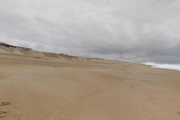 La plage centrale de Ondres dans les Landes