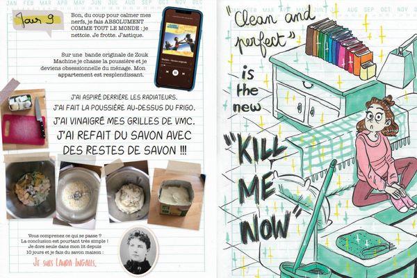 Sophie Lambda : Le Monde au balcon, carnet dessiné d'un printemps confiné de Sophie Lambda