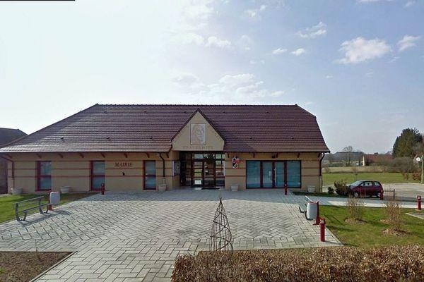 La mairie de Sagy en Bresse, en Saône-et-Loire.