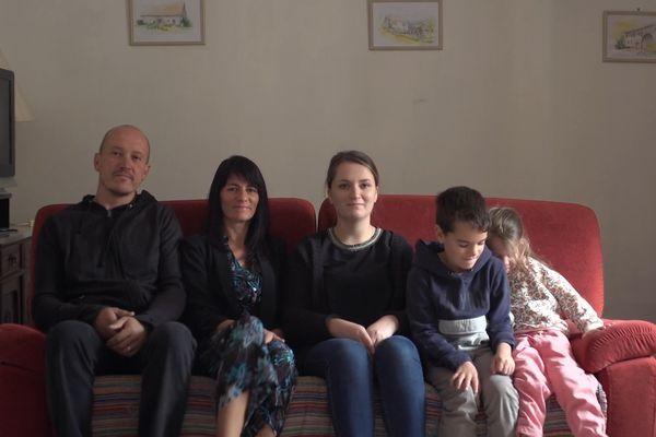 Hérvé, Céline, et leurs enfants