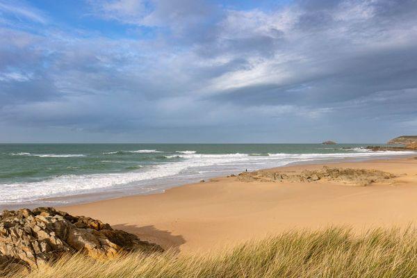 Seul sur la plage... Cap Fréhel (22)