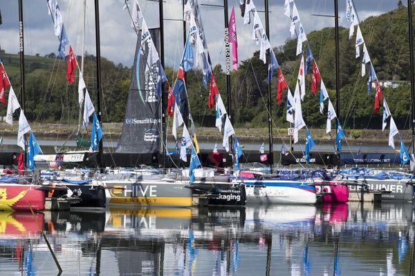 Ambiance sur les pontons de Kinsale - Solitaire du Figaro 2019