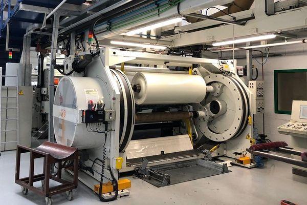 Dans l'usine Gergonne où le plastique antimicrobien est fabriqué.