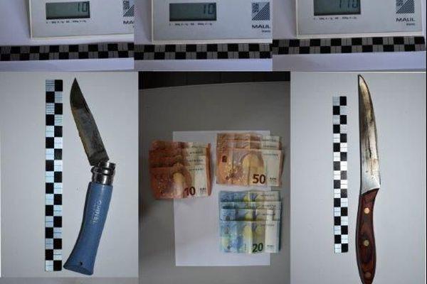 Le résultat de l'interpellation d'un jeune dealer en Corrèze, qui aurait écoulé près de 8 kilos de cannabis depuis 2 ans.