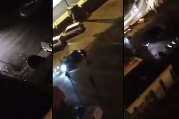 Images extraites des vidéos diffusées sur les réseaux sociaux après la fusillade dans le quartier de Pissevin à Nîmes