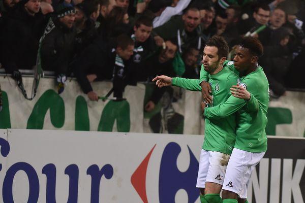 Soulagement pour St Etienne grâce au but de Corgnet , marqué à la fin des prolongations