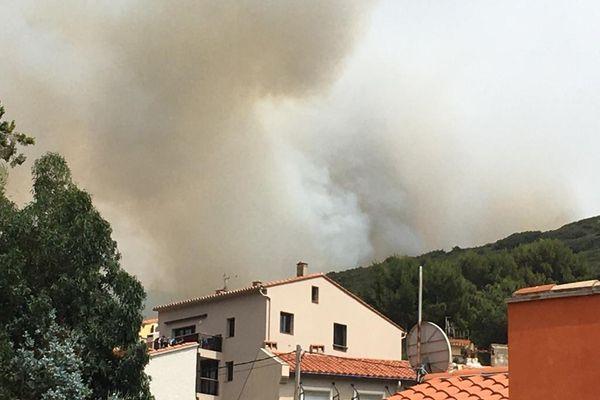 L'incendie du Cap Béar, dans les Pyrénées-Orientales menace des habitations aux alentours - 16 juin 2021