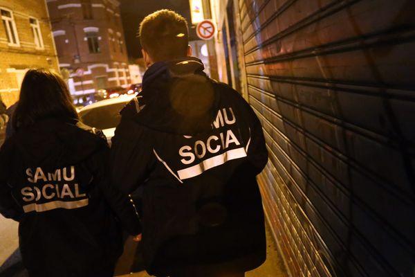 Lors d'une maraude du Samu Social, à Lille.