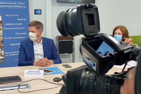 Mathieu Klein lors de la conférence de presse du 5 août 2020.