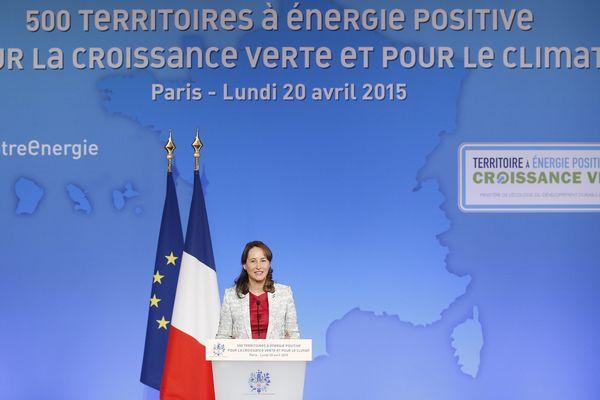 La ministre de l'Ecologie, du développement durable et de l'énergie, Ségolène Royal, à Paris, le 20 avril 2015.