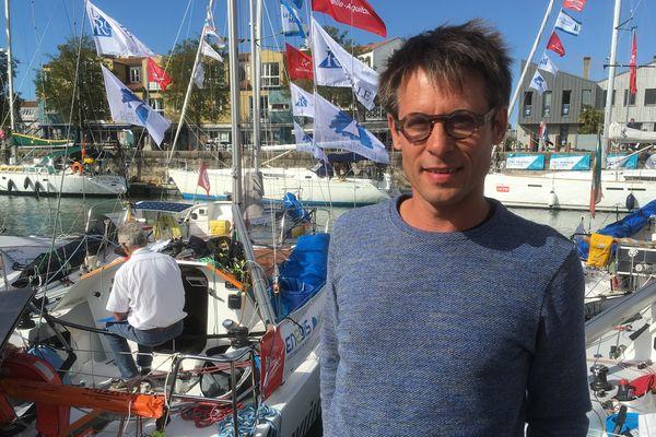 Boris Pelsy, skipper amateur et chef d'entreprise rochelais sera au départ de la Mini-transat 2017.
