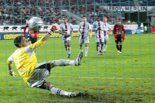 Lors d'un match Rennes - Nice, le 21 octobre 2006.