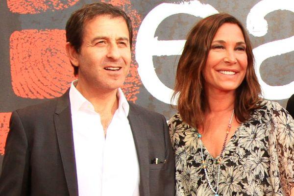 Le compositeur Philippe Kelly et la chanteuse Zazie sur le tapis rouge du festival du film policier à Beaune, le 29 mars 2017.
