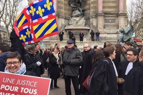Les avocats dijonnais manifestent à Paris le 15 janvier 2019