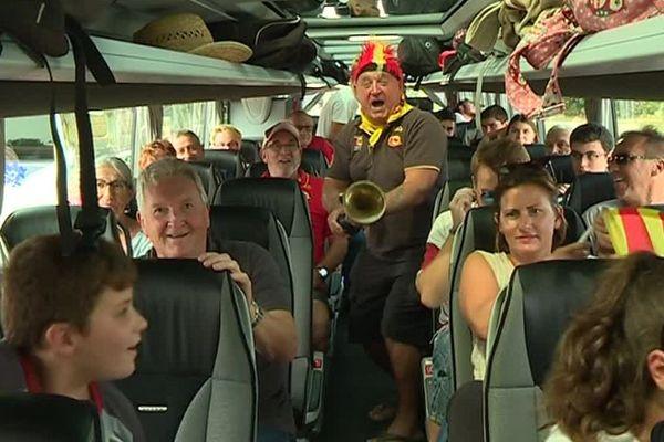 Une centaine de supporters des Dragons Catalans ont pris le départ à Perpignan vendredi 24 août direction la finale de Challenge Cup en Angleterre