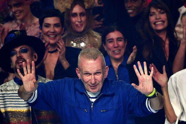 Jean Paul Gaultier a signé son dernier défilé haute couture au théâtre du Châtelet à Paris le mercredi 22 janvier 2020.