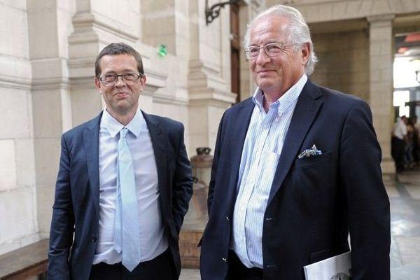 Nicolas Bonnemaison et un de ses soutiens, le chirurgien Jean-Michel Gouffrant