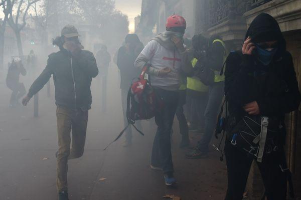Lors de la manifestation du 15 décembre à Toulouse