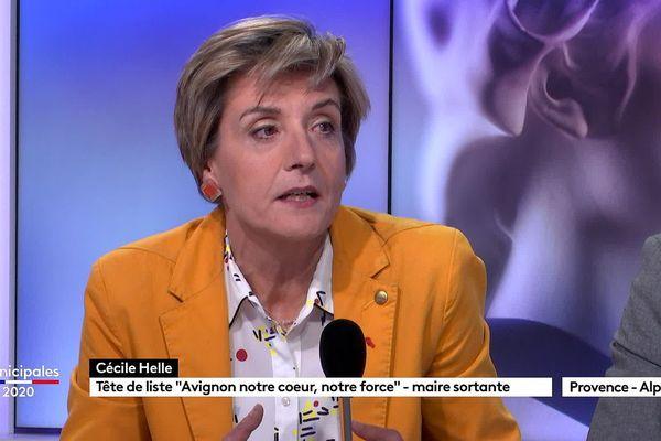 Cécile Helle, maire et candidate aux municipales 2020 à Avignon.