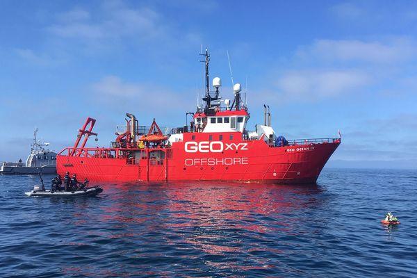Mission suspendue provisoirement pour le Geo Ocean IV en Baie de Saint-Brieuc