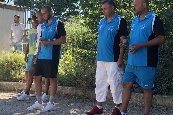 """De gauche à droite : Tyson Molinas, Dominique Usaï et """"Tchato"""" Cano."""