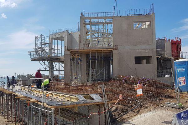 Agde (Hérault) - une résidence de luxe sur la plage - mai 2019.
