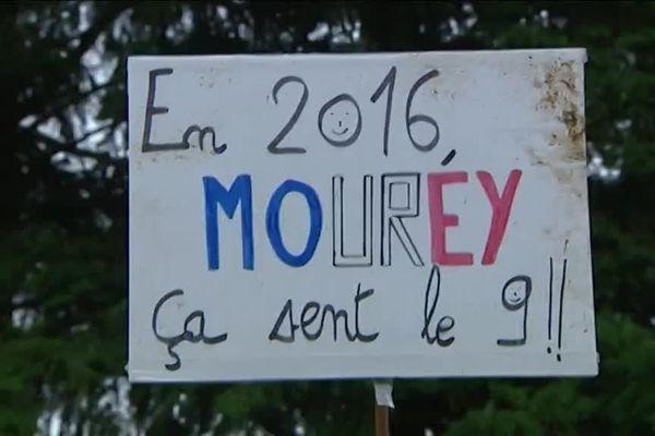Ils étaient nombreux à venir encourager Francis Mourey à Besançon, pour les championnats de France de cyclo-cross.