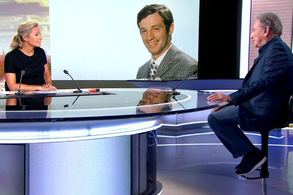 Michel Drucker témoigne sur le plateau du 20h de France 2.